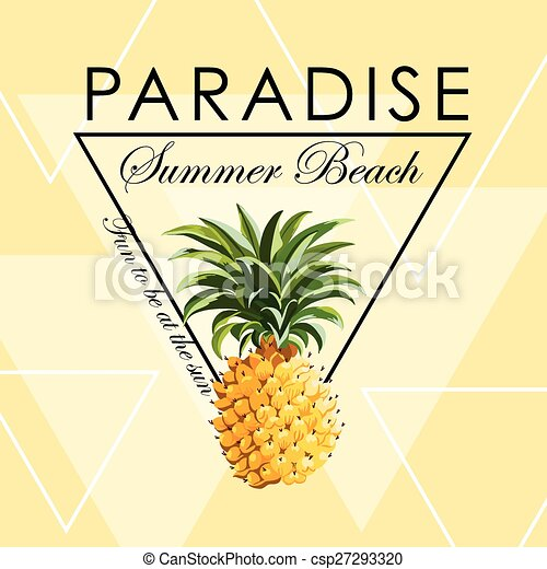 Geometric Pineapple Background - Seamless Pattern in vector - csp27293320