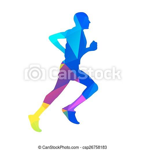 geometric runner vector silhouette vector search clip art rh canstockphoto com runner vector silhouette free runner vector png