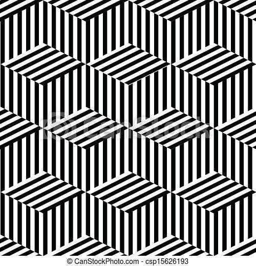 Geometric seamless black and white csp15626193