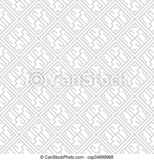 Geometric seamless pattern. - csp34999968
