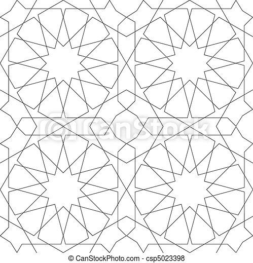 Geometric Seamless Pattern white - csp5023398