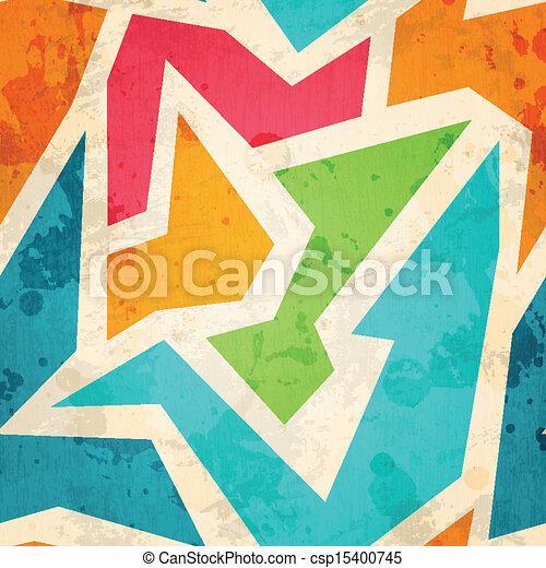 geometric seamless pattern with grunge effect - csp15400745