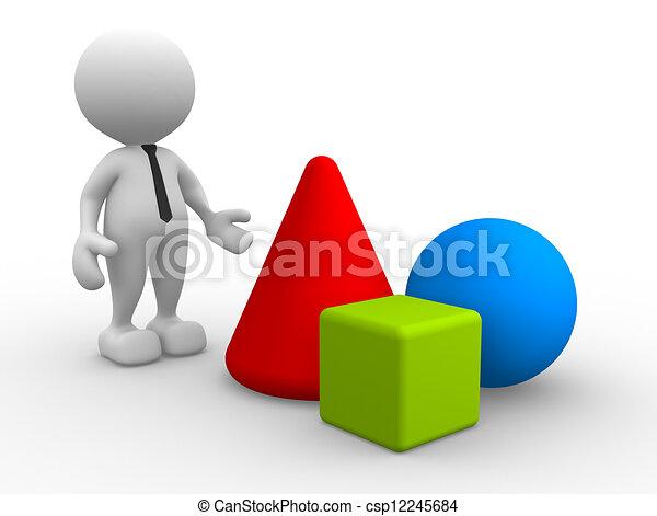 Geometric shapes - csp12245684