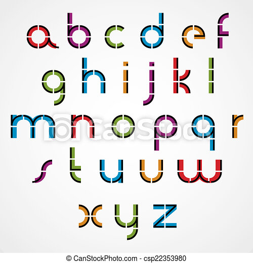 geometric style letters alphabet geometric style letters vector rh canstockphoto com vector letters illustrator vector letters free