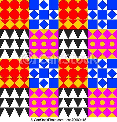 Geometric tile background - csp79989415