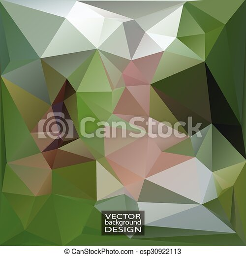 Geometric Triangular Abstract Modern Vector Background.  - csp30922113