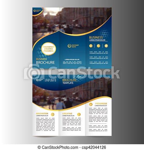 Geometric Trifold Business Brochure Template Geometric Trifold
