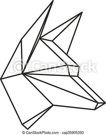 Geometric Wolf Vector Line2