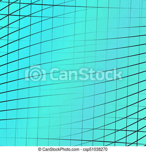 Geometrical abstract background - graphic design from curved angular line  grid