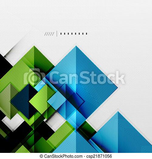 geometrický, čtverhran, futuristický, šablona, kosočtverec - csp21871056