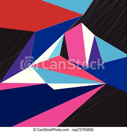 geometrico, astratto, colorito, fondo, vettore - csp73763692