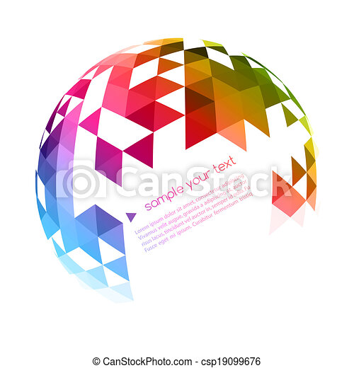 geometrico, fondo, astratto, colorito - csp19099676