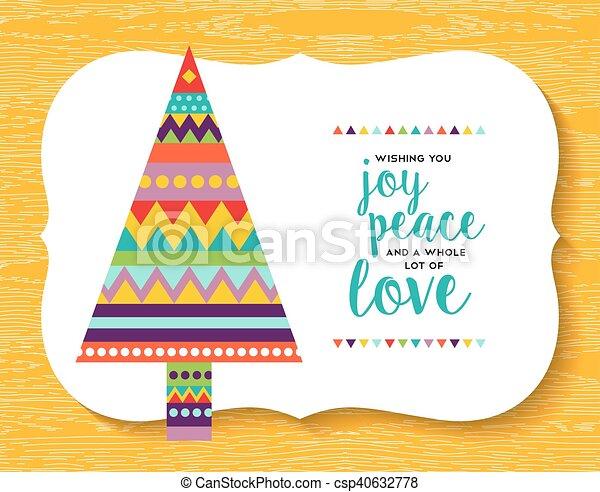 Geometrie, baum, kiefer, farben, design, spaß, weihnachten ...