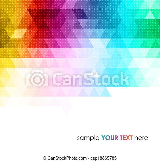 geometrisch, achtergrond, abstract, kleurrijke - csp18865785
