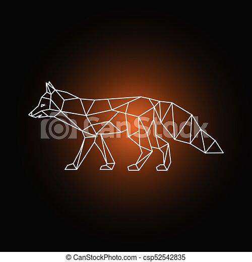 geometrisch form fox geometrisch vektor illustration form fox