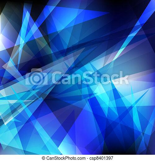 geometrisch, glanzend - csp8401397