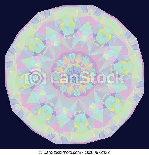 geometrisch, iridescent, ronde, achtergrond - csp60672432