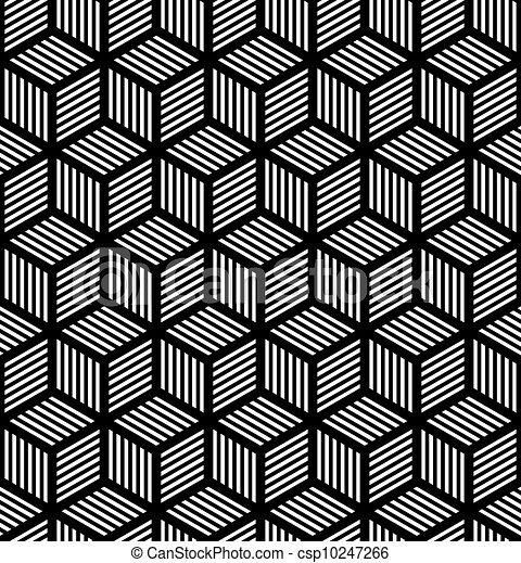geometrisch, kunst, seamless, beschaffenheit, op - csp10247266