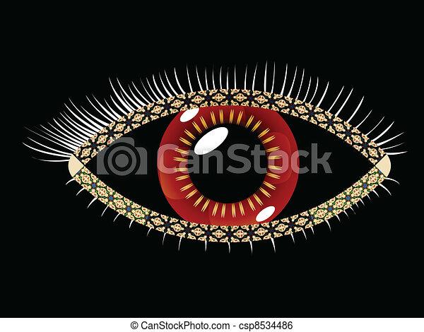 geometrisch, oog - csp8534486