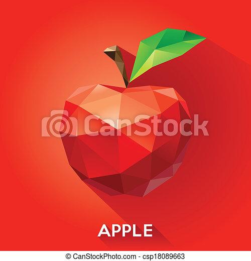 geometrisch, stijl, appel - csp18089663