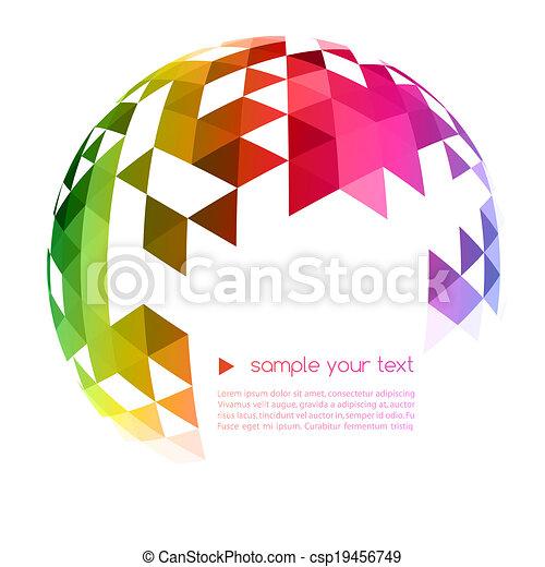 geometriske, baggrund, abstrakt, farverig - csp19456749
