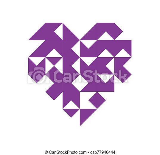 Geometry heart icon on a white background. - csp77946444