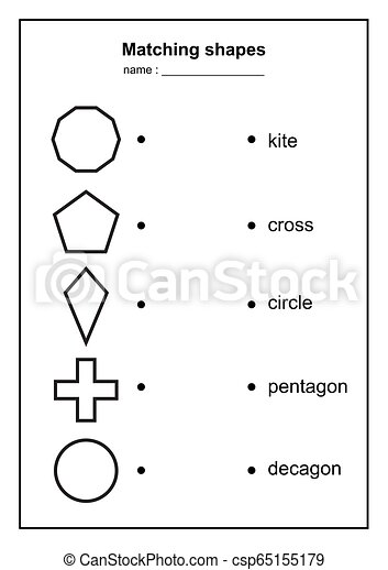 graphic relating to Printable Geometry Shapes called geometry form matching sport. enlightening geometric designs sport. printable finding out content for small children . black and white printables match