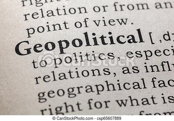 Definición geopolítica - csp65607889