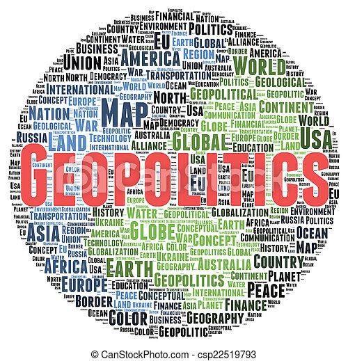 geopolitics, 形, 単語, 雲 - csp22519793