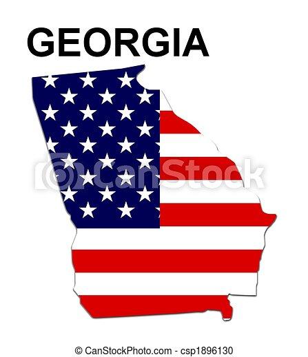 Estados Unidos de Georgia en el diseño de estrellas y rayas - csp1896130