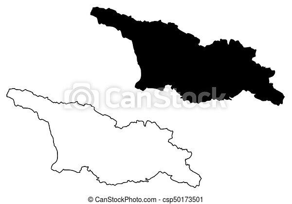 Georgia Map Vector Illustration Scribble Sketch Georgian