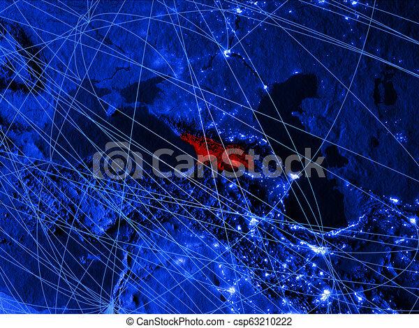 Georgia on blue blue digital map - csp63210222
