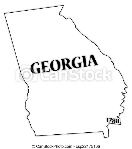 georgia state and date a georgia state outline with the date of