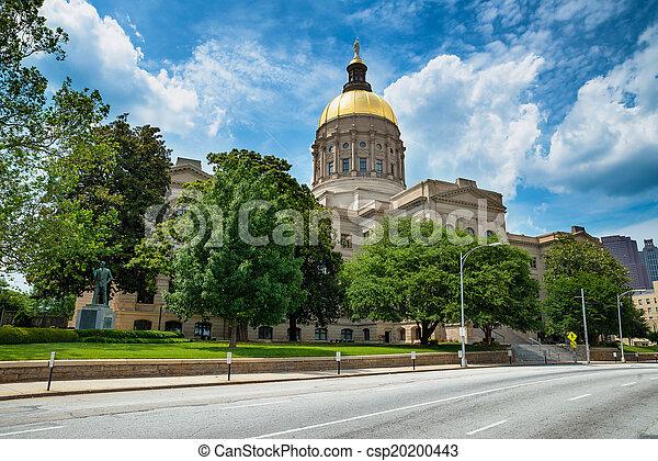 Georgia state capitol building in Atlanta - csp20200443