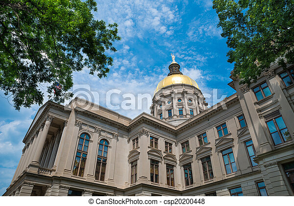 Georgia state capitol building in Atlanta - csp20200448