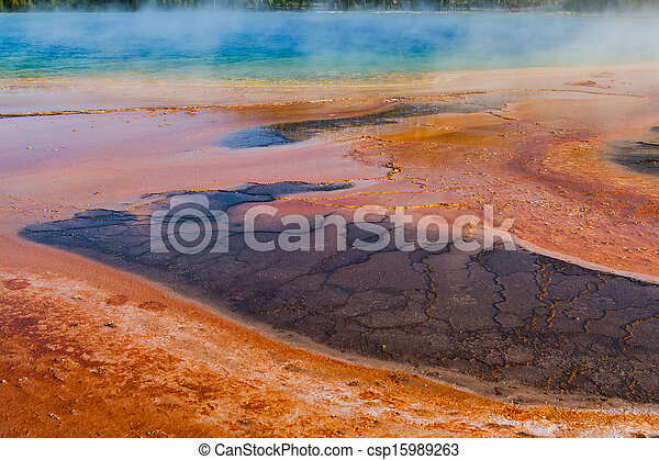 Geothermal fields in Yellowstone National Park - csp15989263