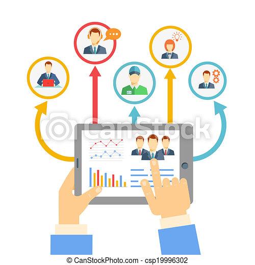 gerência, conceito, remoto, negócio - csp19996302