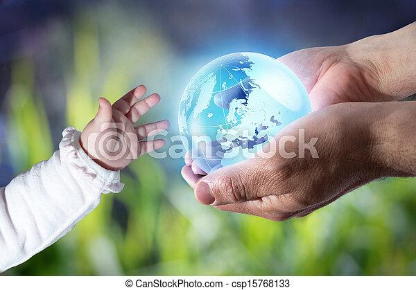 geração, mundo, dar, novo - csp15768133