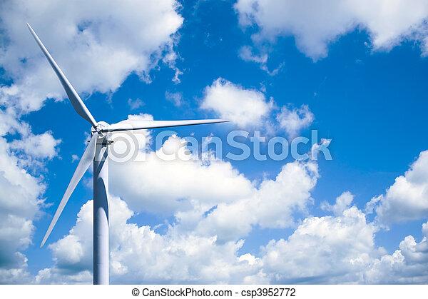 geração, turbina, poder vento - csp3952772