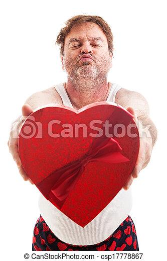 gereed, kerel, scruffy, kus, valentijn - csp17778867