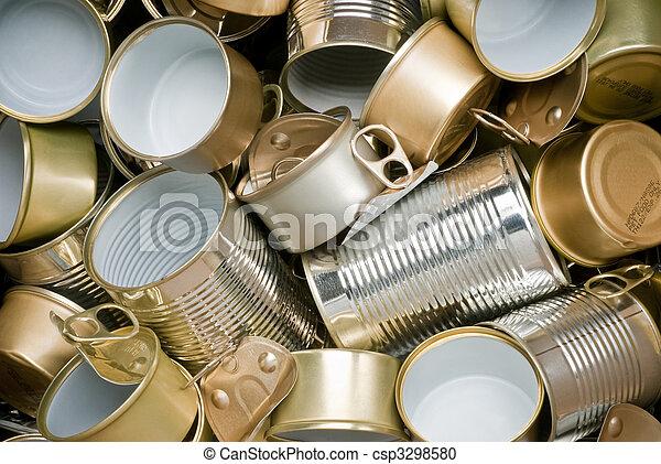gereed, tin, recycling, blikjes - csp3298580
