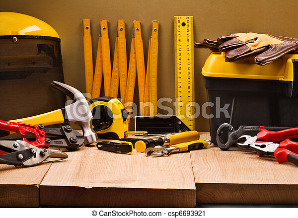 gereedschap, samenstelling, werkende  - csp6693921