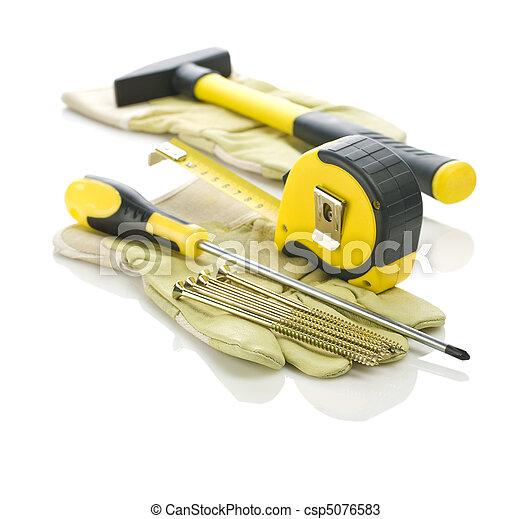 gereedschap, samenstelling, werkende  - csp5076583