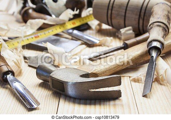 gereedschap, timmerman - csp10813479