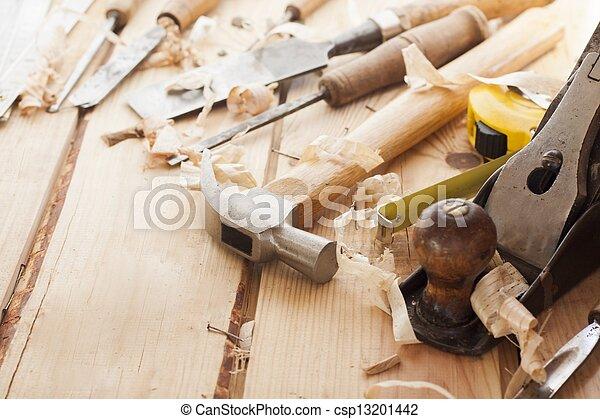 gereedschap, timmerman - csp13201442