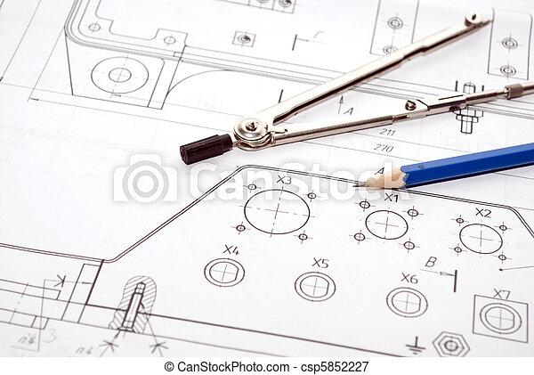 gereedschap, werkende  - csp5852227