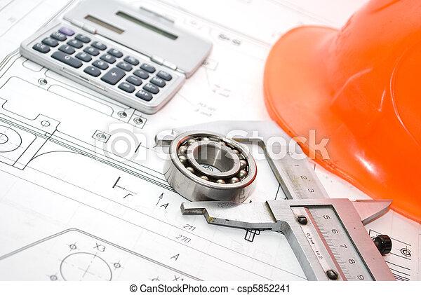 gereedschap, werkende  - csp5852241