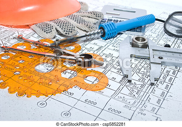 gereedschap, werkende  - csp5852281