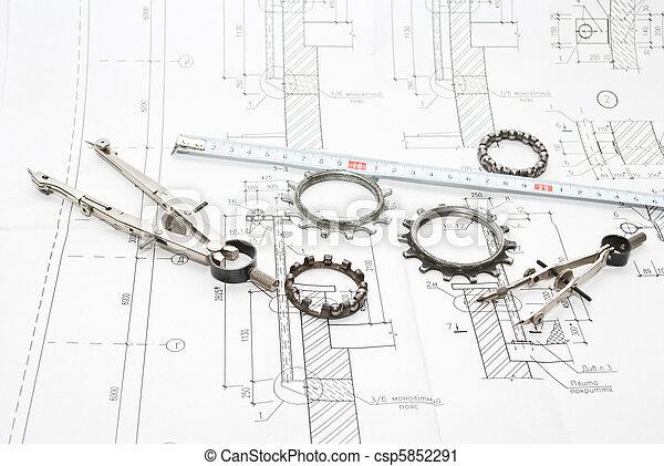 gereedschap, werkende  - csp5852291