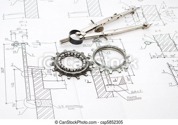 gereedschap, werkende  - csp5852305